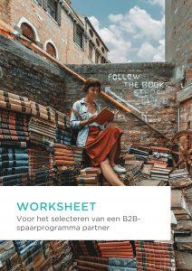 Worksheet voor het selecteren van jouw B2B-spaarprogrammapartner